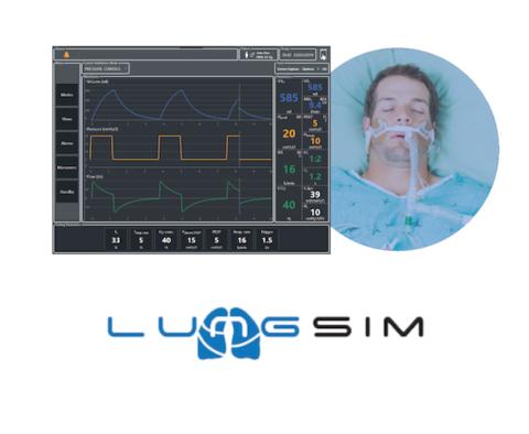 LungSim - Ventilatore simulato compatibile con simulatore di paziente